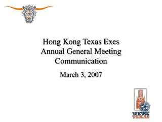 Hong Kong Texas Exes Annual General Meeting Communication
