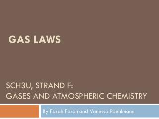 SCH3U, Strand f: Gases and atmospheric chemistry