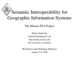 Semantic Interoperability for Geographic Information Systems