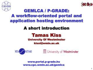 Tamas Kiss University Of Westminster kisst@wmin.ac.uk