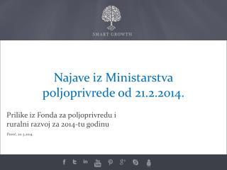 Prilike iz Fonda za poljoprivredu i ruralni razvoj za 2014-tu godinu
