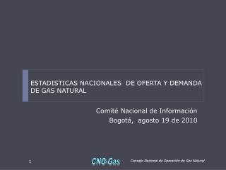 Comit� Nacional de Informaci�n Bogot�,  agosto 19 de 2010