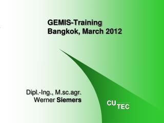 GEMIS-Training Bangkok, March 2012
