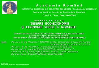 Autori:  - Prof. univ. dr. ing. Alexandru T. BOGDAN, membru corespondent al Academiei Române;