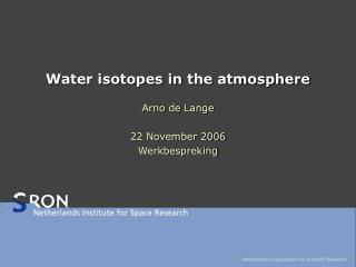 Water isotopes in the atmosphere