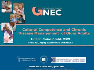 Cultural Competence and Chronic Disease Management  of Older Adults
