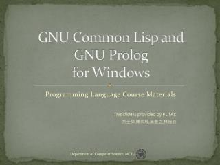 GNU Common Lisp and GNU Prolog for Windows