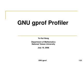 GNU gprof Profiler