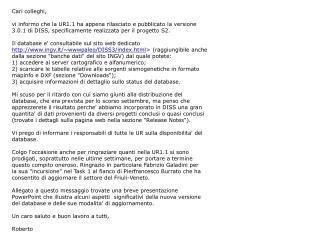 Note sulla versione  3.0.1  di  DISS  per l'uso nell'ambito del  Progetto S2