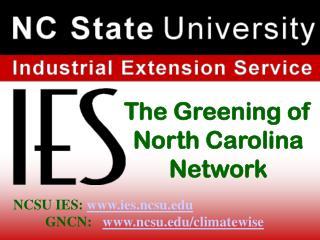 The Greening of North Carolina Network