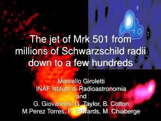 The jet of Mrk 501 from millions of Schwarzschild radii down to a few hundreds