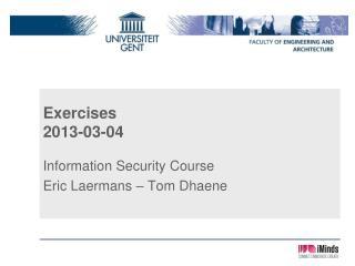 Exercises 2013-03-04