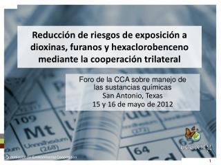 Foro de la CCA sobre manejo de  las sustancias químicas San Antonio, Texas