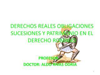 DERECHOS REALES OBLIGACIONES SUCESIONES Y PATRIMONIO EN EL DERECHO ROMANO