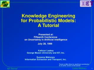 Knowledge Engineering for Probabilistic Models: A Tutorial
