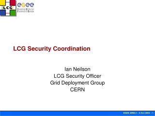 LCG Security Coordination