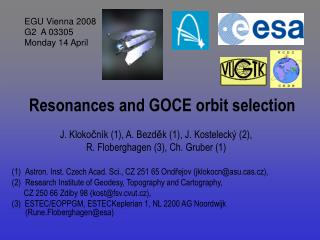 Resonances and GOCE orbit selection