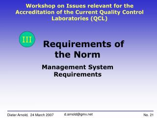 Requirements of the Norm Management System Requirements