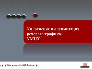 Уплотнение и оптимизация речевого трафика. VMUX