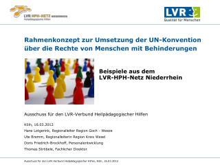 Rahmenkonzept zur Umsetzung der UN-Konvention �ber die Rechte von Menschen mit Behinderungen