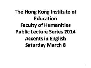 Public Lecture Series 2014