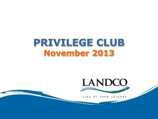 PRIVILEGE CLUB November 2013