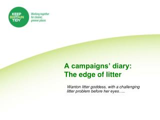 A campaigns' diary: The edge of litter