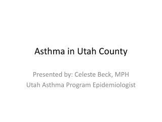 Asthma in Utah County