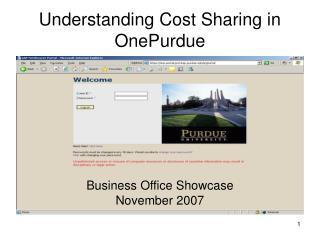 Understanding Cost Sharing in OnePurdue