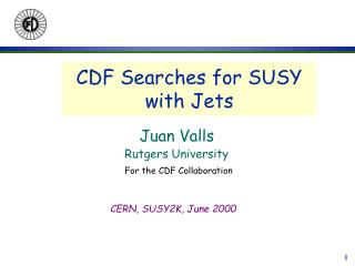 CDF Searches for SUSY with Jets