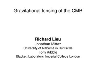 Gravitational lensing of the CMB