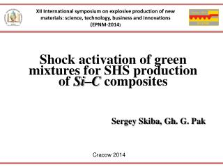 Shock activation of green mixtures for SHS production  of  Si�C  composites