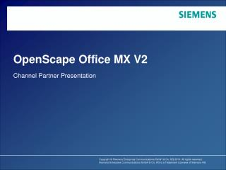 OpenScape Office MX V2