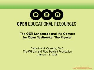 Hewlett's Involvement in OER