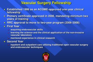 Vascular Surgery Fellowship