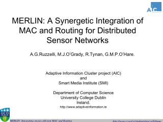MERLIN: A Synergetic Integration of MAC and Routing for Distributed Sensor Networks