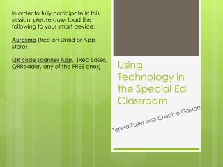 Using Technology in the Special Ed Classroom