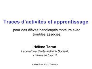 Traces d'activités et apprentissage