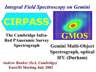 Integral Field Spectroscopy on Gemini