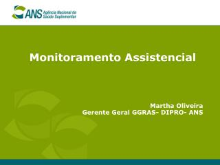 Monitoramento Assistencial