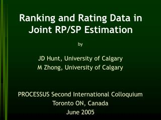 Ranking and Rating Data in Joint RP/SP Estimation
