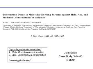 Julia Salas Case Study, 3-14-06 CS379a