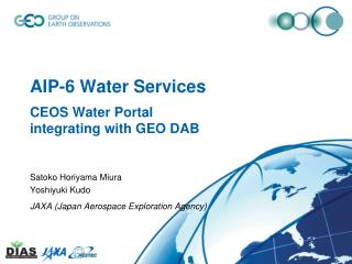 AIP-6 Water Services CEOS Water Portal  integrating with GEO DAB