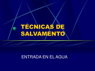 T CNICAS DE SALVAMENTO