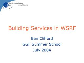 Building Services in WSRF
