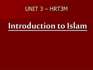 UNIT 3 – HRT3M