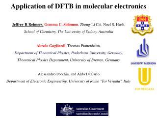 Application of DFTB in molecular electronics
