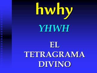 hwhy YHWH