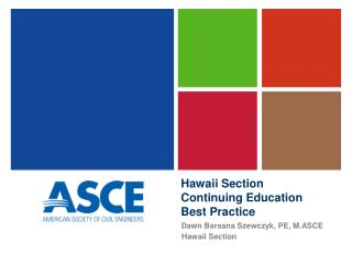 Hawaii Section  Continuing Education  Best Practice