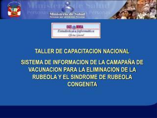 TALLER DE CAPACITACION NACIONAL